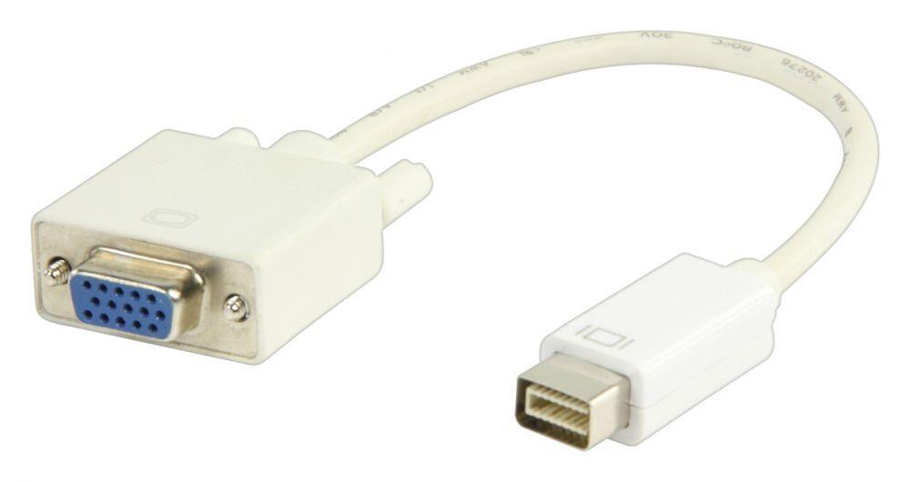Valueline mini DVI - VGA átalakító 20cm