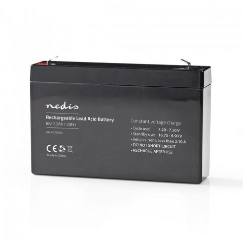 Zselés akkumulátor 6V 7.2Ah