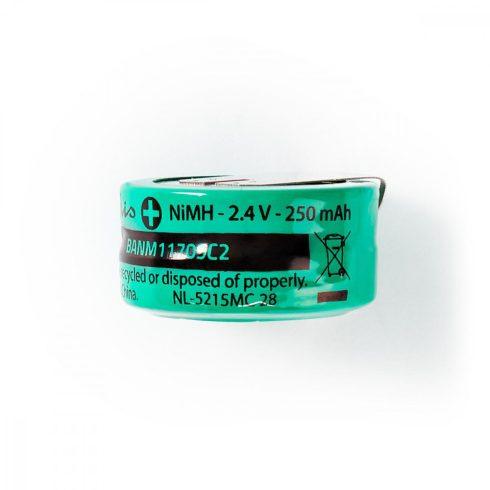 NiMh forrsztható akkumulátor 2.4V 250mA