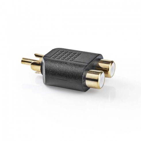 Aranyozott RCA elosztó adapter | RCA dugó - 2x RCA aljzat - 10db