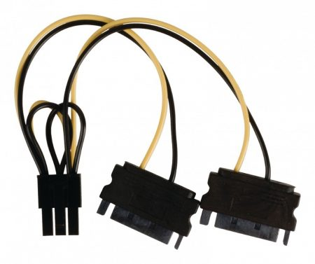 SATA kábel | 2x SATA 15 pin - PCI Express | 0,15 m