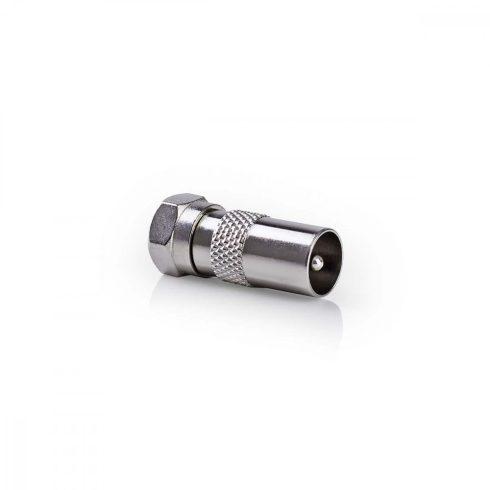 Koax dugó - F dugó adapter - 10db