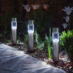 LED szolár kerti lámpa - 20cm