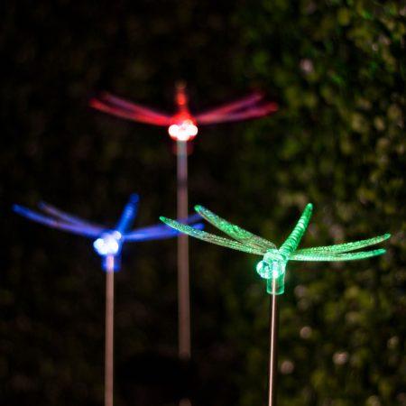Napelemes RGB kerti lámpa - szitakötő
