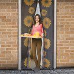 Szúnyogháló ajtóra 100 x 210cm napraforgós