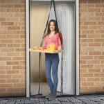 Szúnyogháló ajtóra 100 x 210cm fekete