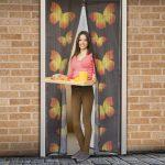 Szúnyogháló ajtóra 100 x 210cm lepkés