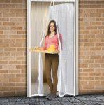 Szúnyogháló ajtóra 100 x 210cm fehér