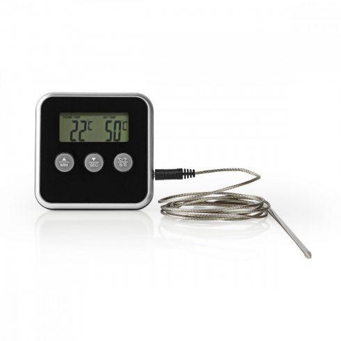 Digitális Húshőmérő és időzítő - Fekete (KATH105BK)