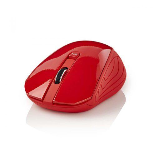 Nedis Vezeték nélküli egér   1000 DPI   3 gomb   Piros