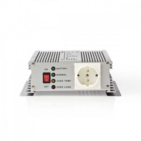 Nedis inverter 600W 12-220V beépített töltővel