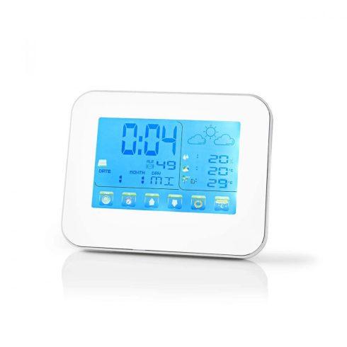 Időjárás állomás kültéri hőmérővel érintő képernyő